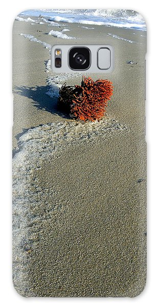 Foam And Seaweed On The Beach Galaxy Case