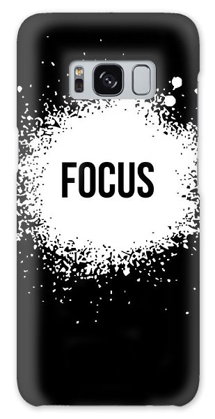 Motivational Galaxy Case - Focus Poster Black by Naxart Studio
