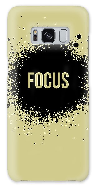 Quote Galaxy Case - Focus Poster Grey by Naxart Studio
