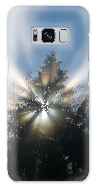 Fog And Light Rays Galaxy Case