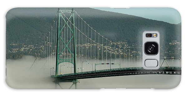 Fog Engulfing The Lion's Gate Bridge Galaxy Case by Brian Chase