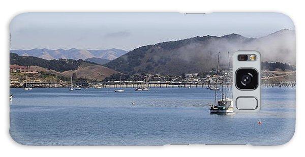 Fog Hovering Over San Luis Obispo Bay Galaxy Case by Jan Cipolla