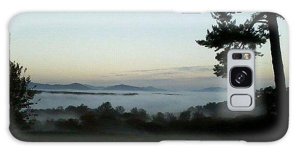 Fog Mountain Lake Galaxy Case