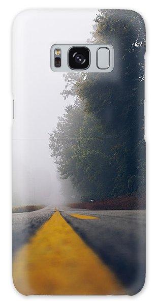 Fog On Highway Galaxy Case