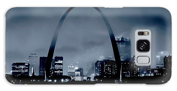 Fog Over St Louis Monochrome Galaxy Case