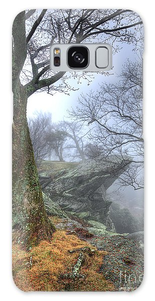 Fog Rocks And Lichen In The Blue Ridge Galaxy Case