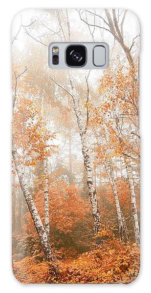 Foggy Autumn Aspens Galaxy Case