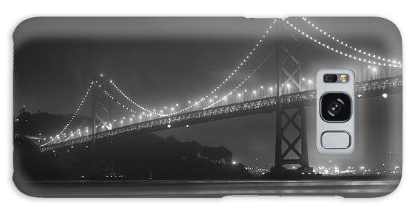Foggy Bay Bridge Galaxy Case