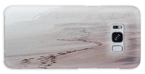 Foggy Beach At Dawn Galaxy Case