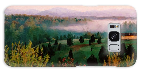 Foggy Blue Ridge Morning Galaxy Case