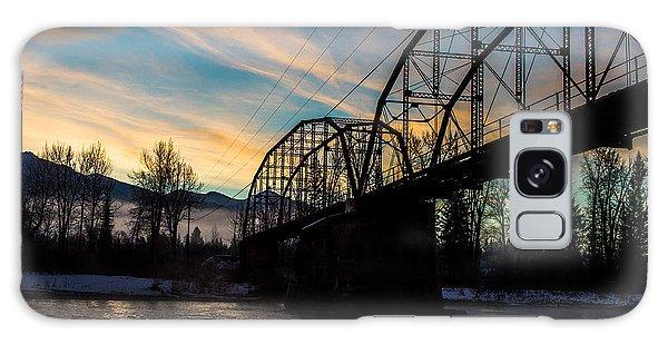 Foggy Bottom Bridge Galaxy Case by Aaron Aldrich