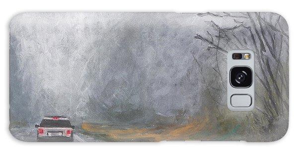 Foggy Drive Home Galaxy Case