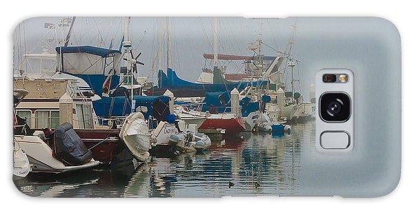 Foggy Harbor Galaxy Case