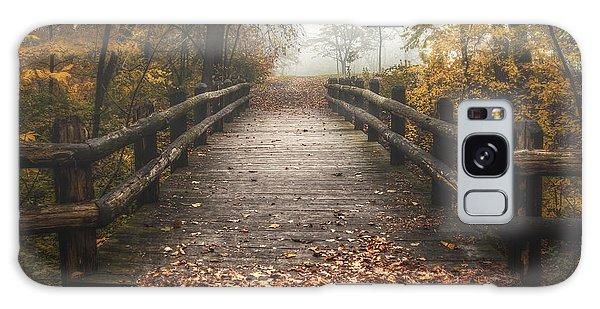 Mist Galaxy Case - Foggy Lake Park Footbridge by Scott Norris