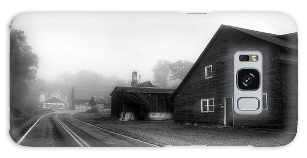 Foggy Morning In Brasstown Nc In Black And White Galaxy Case
