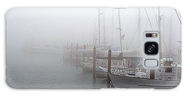 Foggy Morning In Charleston Harbor Galaxy Case by AJ  Schibig