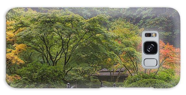 Foggy Morning In Japanese Garden Galaxy Case