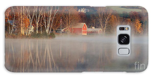 Foggy Morning On Lake Pineo Galaxy Case by Butch Lombardi