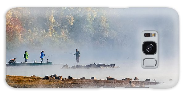 Foggy Morning St Croix River Stillwater Mn Galaxy Case