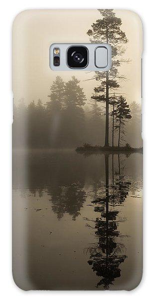 Foggy Morning Sunrise At The Lake Galaxy Case