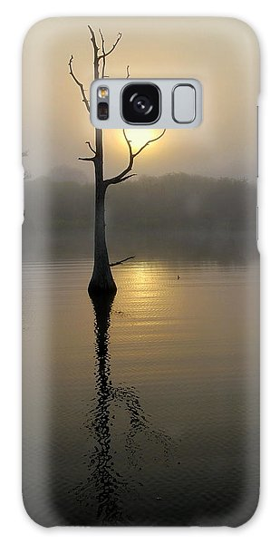 Foggy Morning Sunrise Galaxy Case