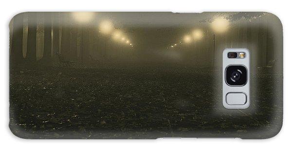 Foggy Night In A Park Galaxy Case