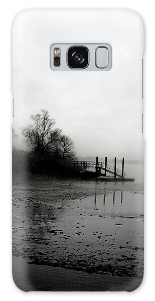 Foggy Pier In January Galaxy Case