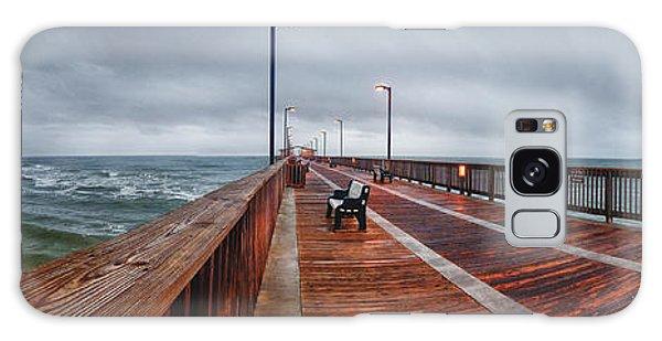 Foggy Pier  Galaxy Case by Michael Thomas