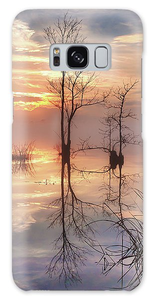 Foggy River Evening Galaxy Case