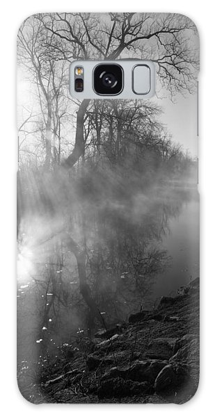Foggy River Morning Sunrise Galaxy Case