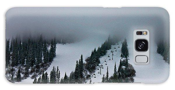 Foggy Ski Resort Galaxy Case