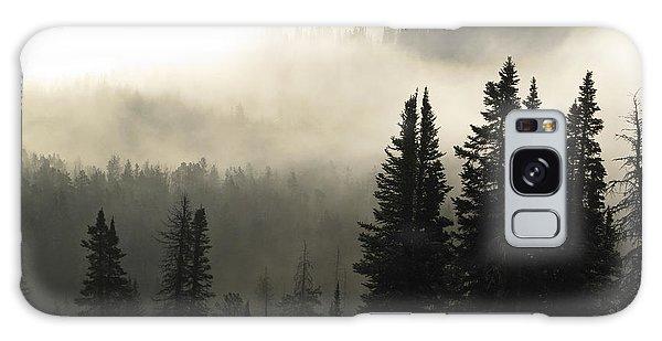 Foggy Sunrise At Yellowstone Galaxy Case