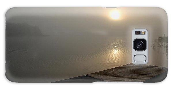 Foggy Sunrise Galaxy Case by Debbie Oppermann