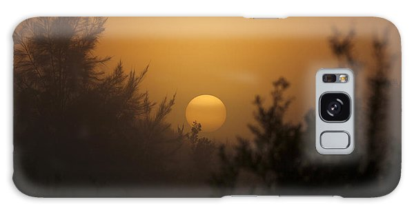 Foggy Sunrise Galaxy Case by Meg Rousher