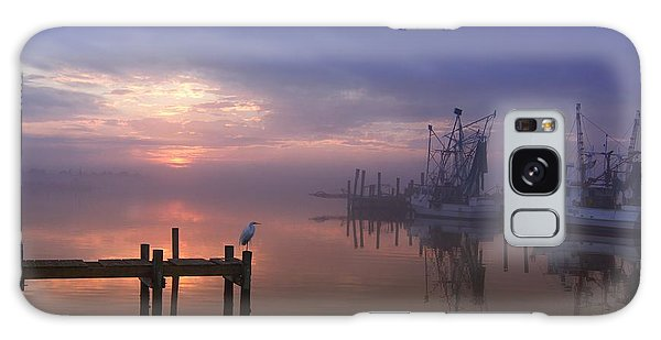 Foggy Sunset Over Swansboro Galaxy Case