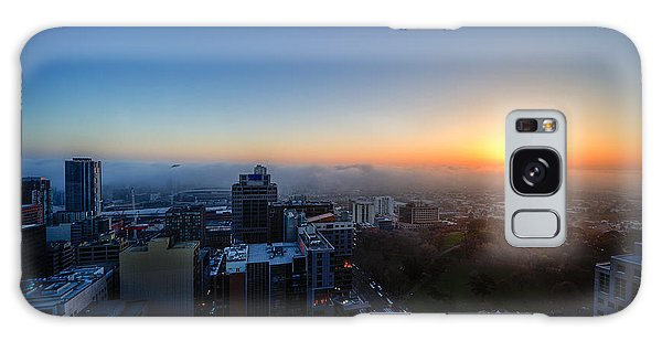 Foggy Sunset Galaxy Case