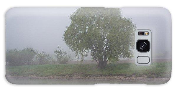 Foggy Elbe Tree Galaxy Case