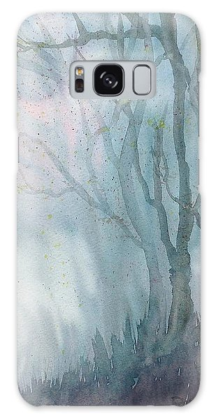 Foggy Trees Galaxy Case by Rebecca Davis