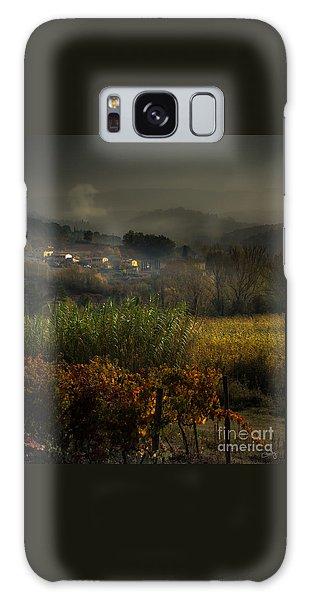 Foggy Tuscan Valley  Galaxy Case
