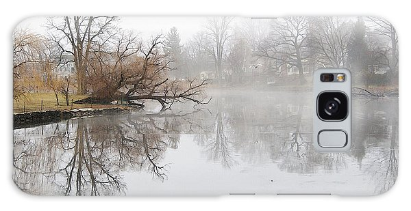 Foggy Winter Creek Galaxy Case