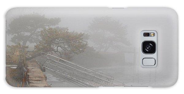 Foggy Winter Harbor Galaxy Case by Margie Avellino