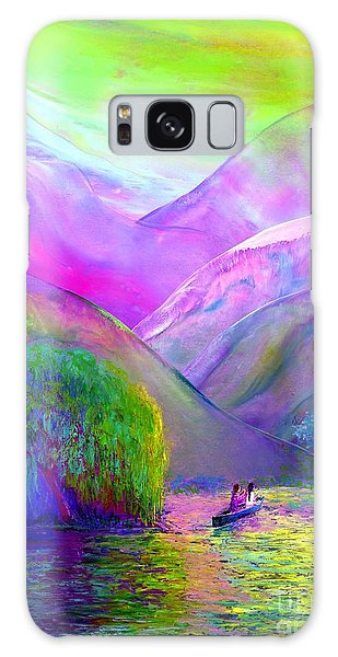 Figurative Galaxy Case -  Love Is Following The Flow Together by Jane Small
