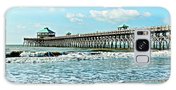 Folly Beach Fishing Pier Galaxy Case