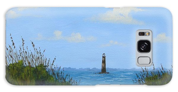 Folly Beach Lighthouse Galaxy Case