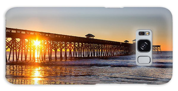 Folly Beach Pier At Sunrise Galaxy Case