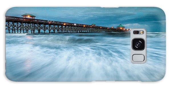 Folly Beach Pier Charleston Sc - Folly Beach Blues Galaxy Case