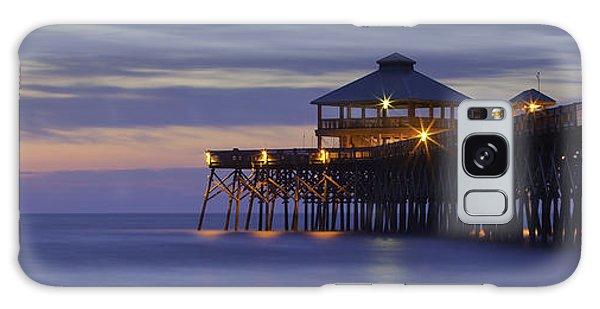 Folly Beach Pier Galaxy Case