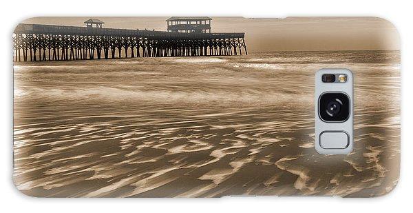 Folly Beach Pier Toned Galaxy Case