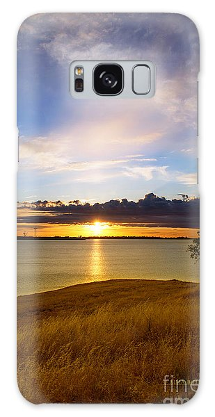 Folsom Lake Sunset Galaxy Case