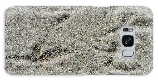 Foot Prints In The Sand Galaxy Case